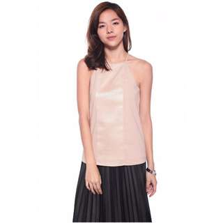 Love Bonito - Tabby Contrast Panel Top (Blush) - Size  S