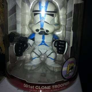 Star Wars 501st Clone Trooper Bobble Head Sdcc Exclusive Funko