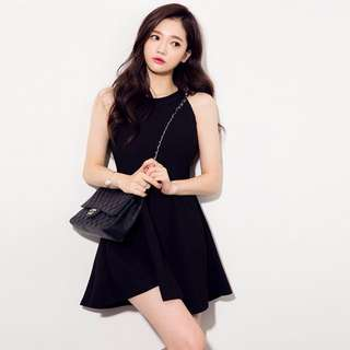 [Pre-order]Black Halter Dress