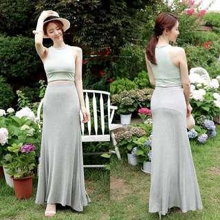 [Pre-order] Grey Long Skirt