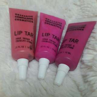 O.C.C. Lip Tar Pinks Trio