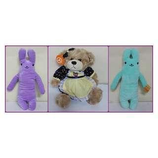 兔子抱枕~全新長抱兔娃娃~小熊娃娃 療瘍系~綿綿fumo兔~柔棉材質玩偶~生日情人節禮物