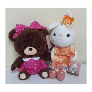 可愛Princess Bear娃娃~公主熊玩偶 提拉米兔玩偶蝴蝶結款 吊飾 兒童 玩具 情人 禮物