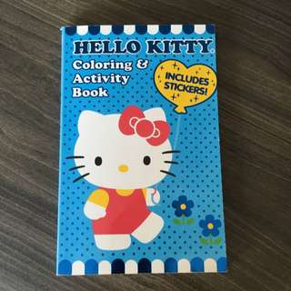 BN Hello Kitty Coloring Book with Stickers!!
