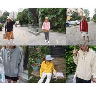 春款韓國學生休閑寬松顯瘦純色韓版毛衣針織衫