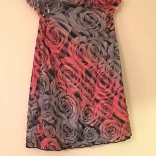 Strapless Size 12 Floral Short Dress
