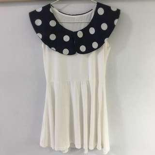 White Polka Dots Skater Dress