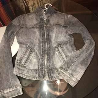 Size 8 Stone Denim Jacket