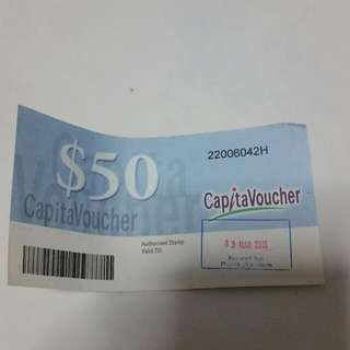 $50 Capitaland vouchers (RESERVED)