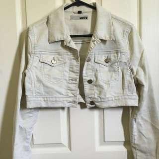 Moto Cropped Denim Jacket
