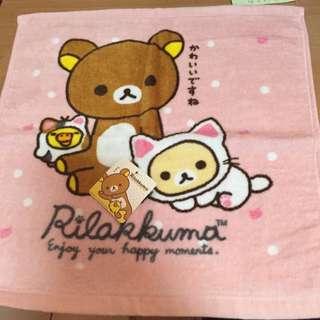 拉拉熊 100%棉的小方巾