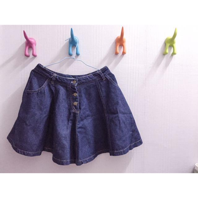 (現貨)傘狀牛仔裙
