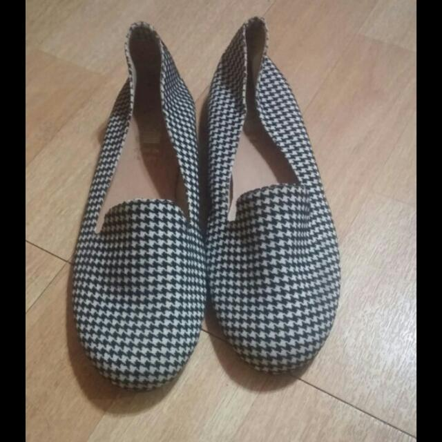 全新格紋平底鞋(含運)