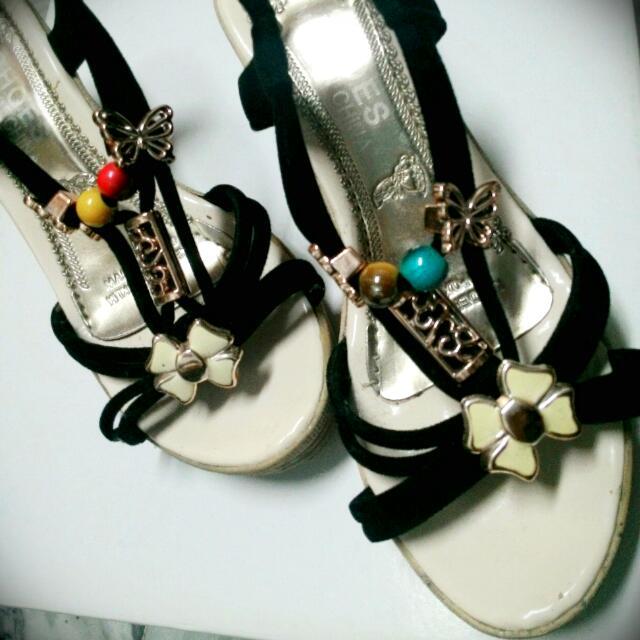 黑色涼鞋 36號