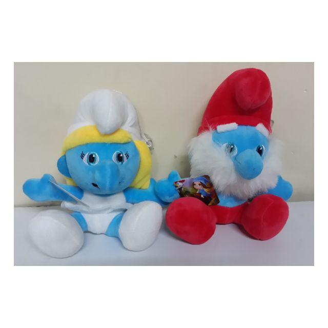 藍色小精靈娃娃 藍精靈老爹玩偶 2款車用掛飾 生日禮物