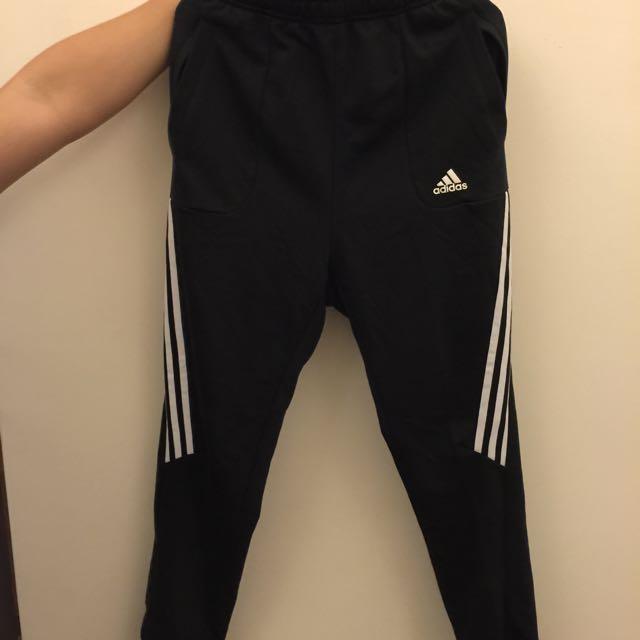Adidas愛迪達縮口褲 棉褲 束口 錐形 XL