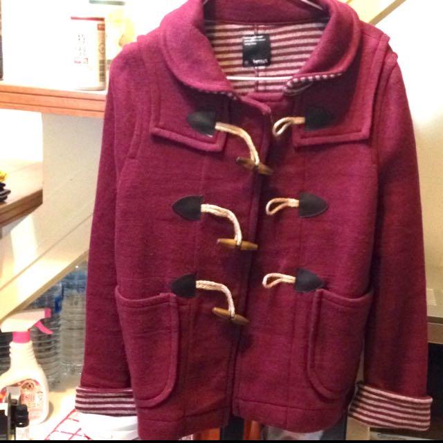 專櫃Betty's牛角扣羊毛外套