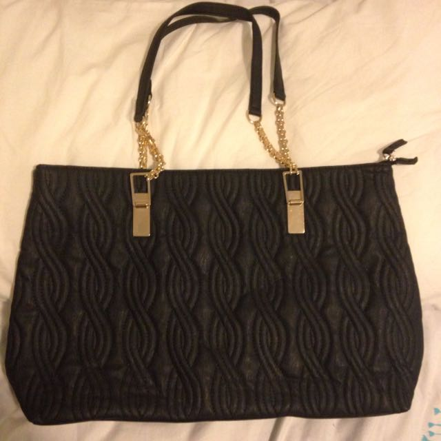 Black Quilted Bag
