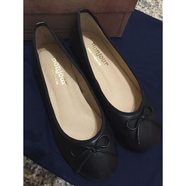 (特價)✨Bonjour 羊紋革芭蕾內增高鞋