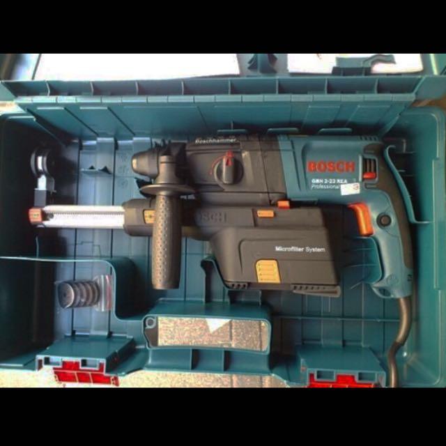 BOSCH  (GBH2-23REA) 四溝旋轉鎚鑽附集塵裝置 電鑽 免出力四溝鎚鑽 全新未使用已拆封