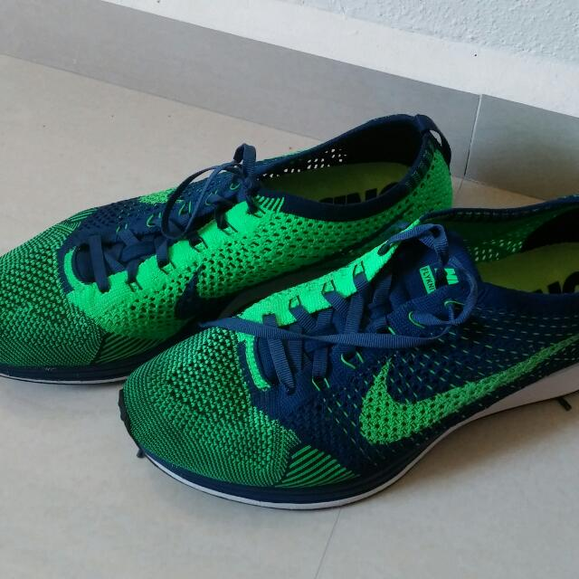 737d1ae3069d1 Cheap Mildly Used Authentic Nike Flyknit Racer BraveBlue Poison ...