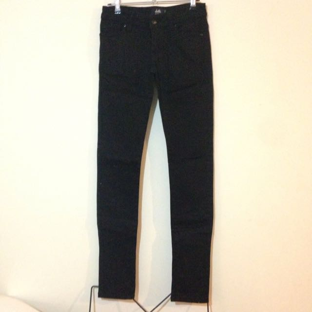 Dotti Black Denim Jeans Skinny Size 8