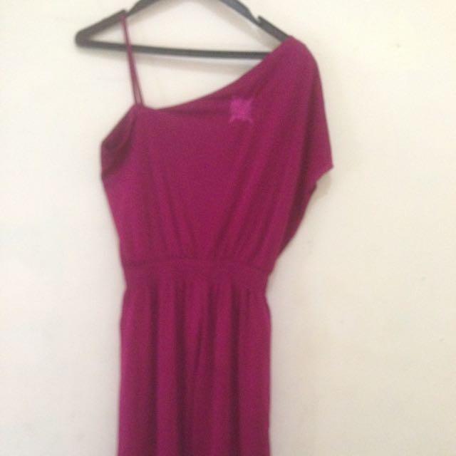 Dress Cute..warna Ungu..all Size..