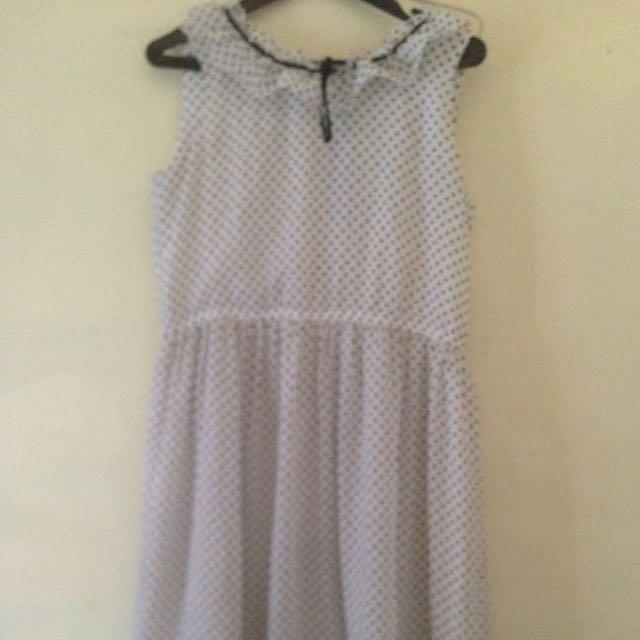 Dress Polkadot Pjg Dibawah Dengkul Sedikit..ukuran All Size