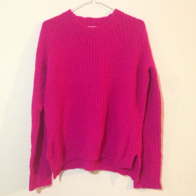 Forever 21 Hot Pink Sweater Size S