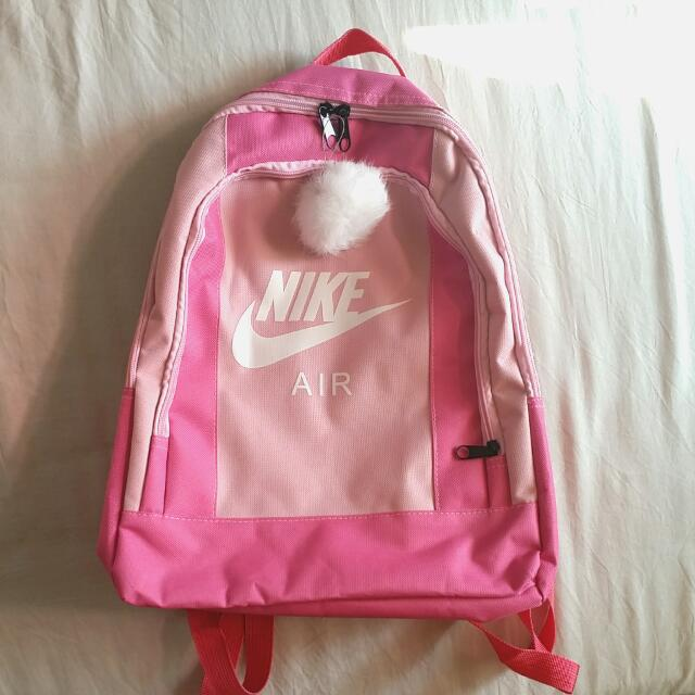 PENDING Hot Pink Baby Pink Fuchsia Nike Air Inspired Backpack ... 3b4b94190428a