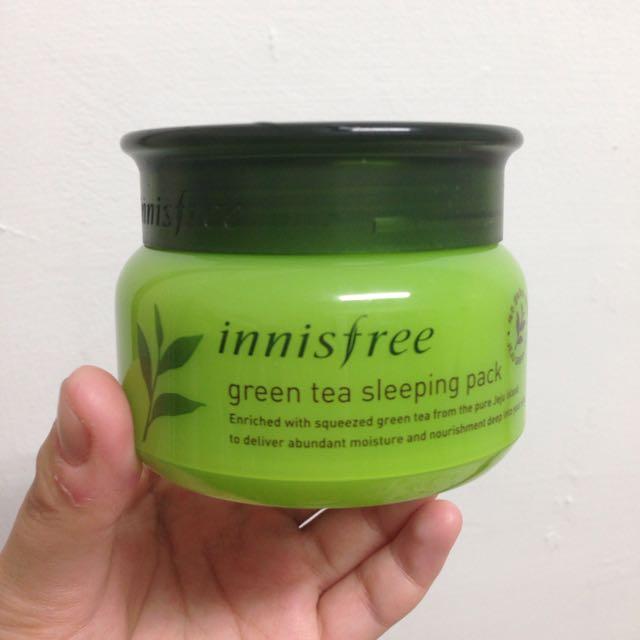 Innisfree 綠茶晚安面膜(二手)