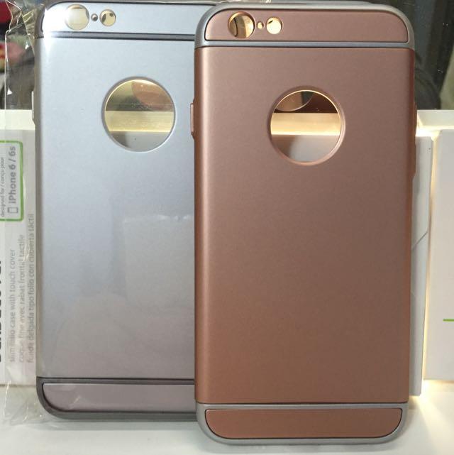 (含郵)l6/l6S 手機殻 玫瑰金/銀色