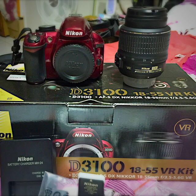 Nikon D3100特殊紅色機身