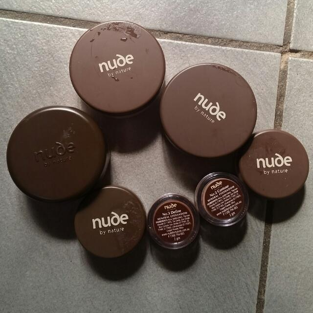 Nude By Nature Powder Blush, Loose Powder And Eyeshadow