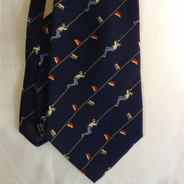 Salvatore Ferragamo Tie With Nautical Theme