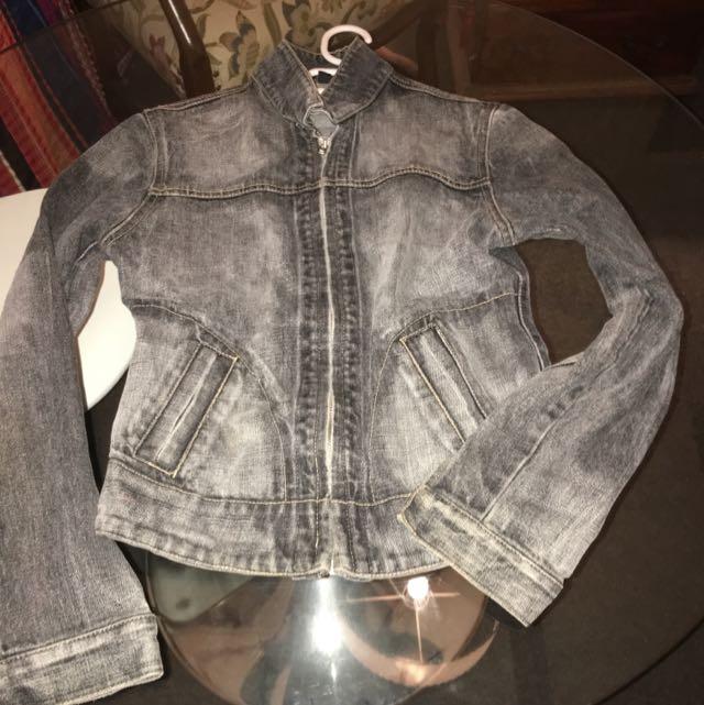 Size 8 Stone Denim Jacket