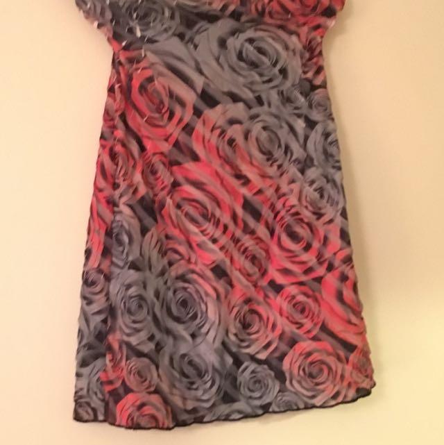 Strapless Size 12 Floral Short Dress