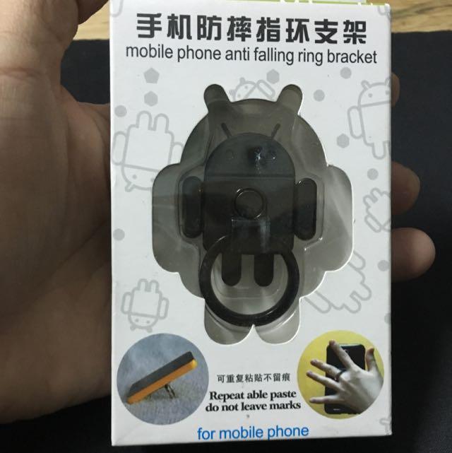 指環支架+雙孔USB插頭