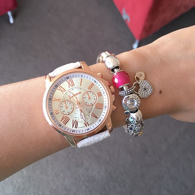 White Quartz Wrist Watch. Matches With Anything!