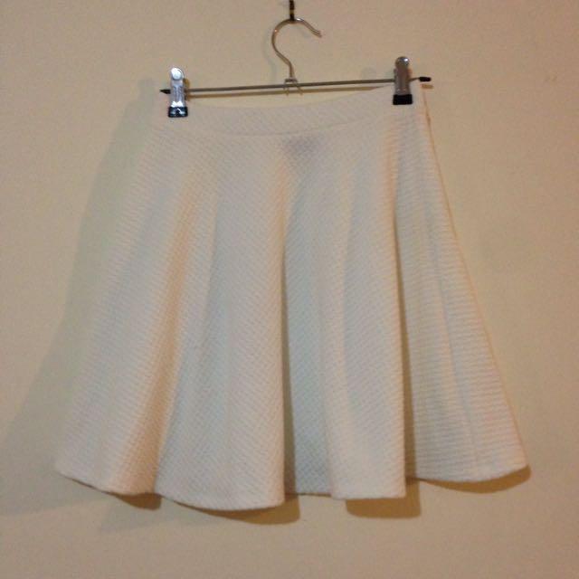 White Skater Skirt Size 6