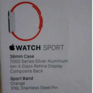38mm BNIB Iwatch