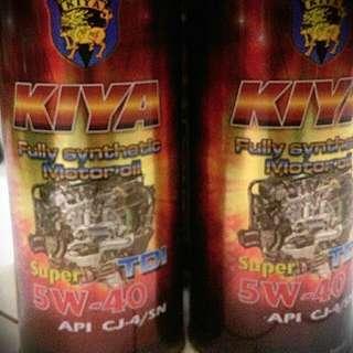 🚚 日本KIYA全合成機油5W-40 SuperTdi (氣柴油共用)