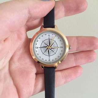 Black & silver wristwatch