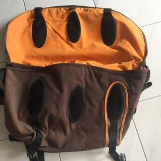 Big Crumpler Bag. Brown And Orange Color Inside. Use Less Than 10times. Great Condition 9/10.