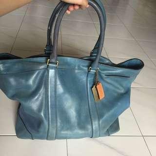 Coach Tote Blue Bag. For Men.