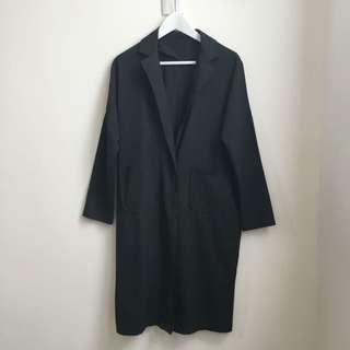 近全新 含運 韓版 黑色薄款西裝外套 風衣