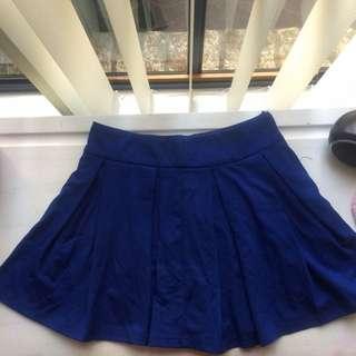 Mooloolaba Navy Blue Skater Skirt