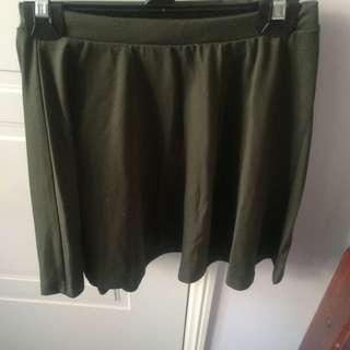 Khaki Skater Skirt