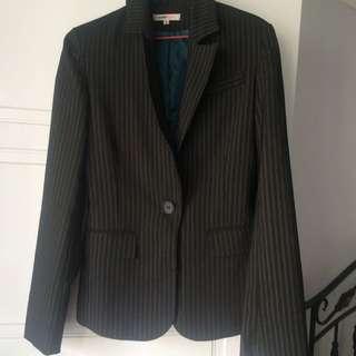 Black w/ Gray Stripes Blazer