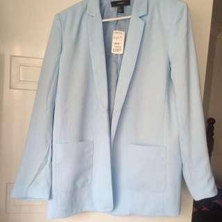 Forever 21 Light Blue Blazer/Jacker Medium
